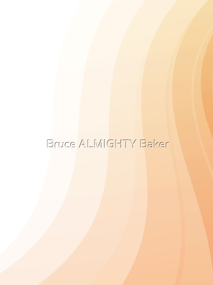 Peach Curves Abstract Art by BruceALMIGHTY