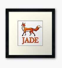 Jade Fox Framed Print