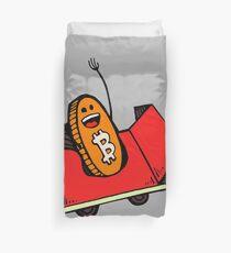Bitcoin Rollercoaster Guy Duvet Cover