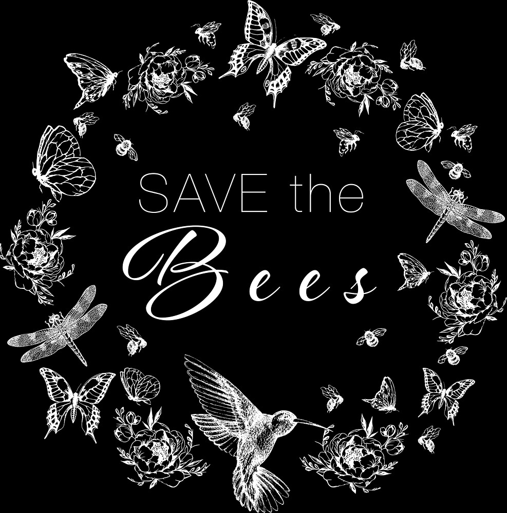 SAVE the Bees (Design in White) by StudioKH