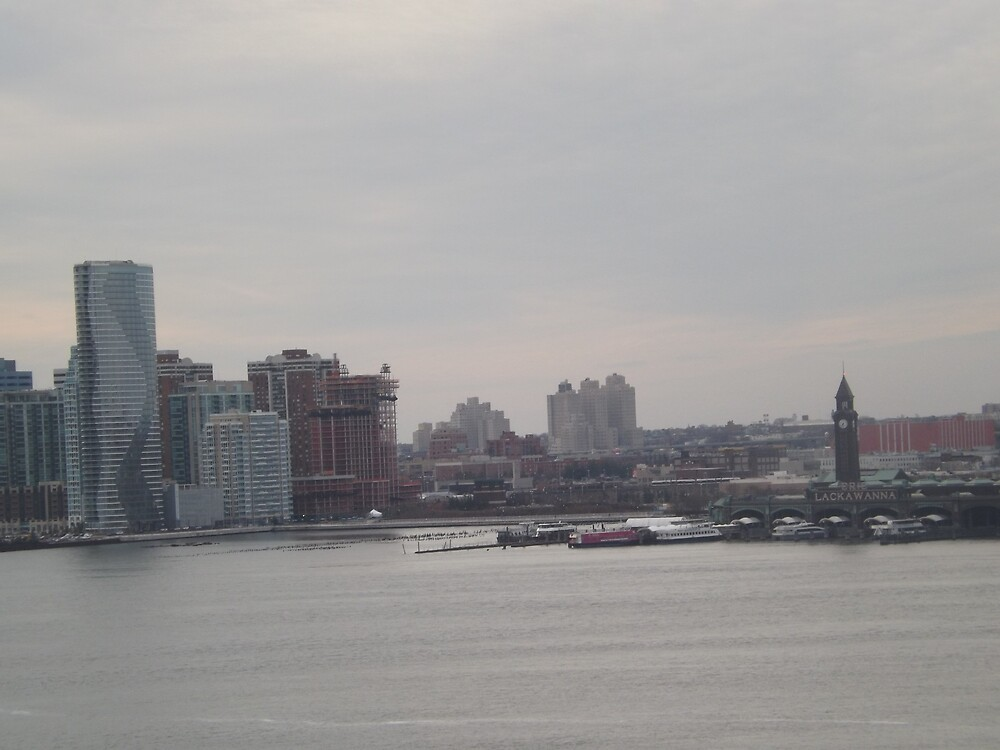 Aerial View, Jersey City, Hoboken, New Jersey  by lenspiro