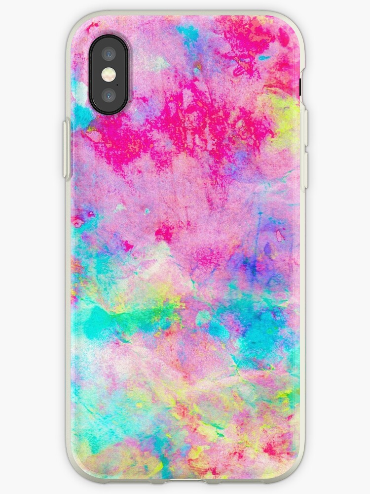 trippy pixel water colour tie dye pattern by stinkybb