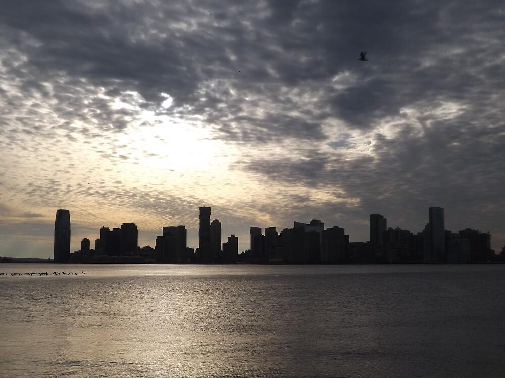Jersey City Skyline, Hudson River, New Jersey by lenspiro
