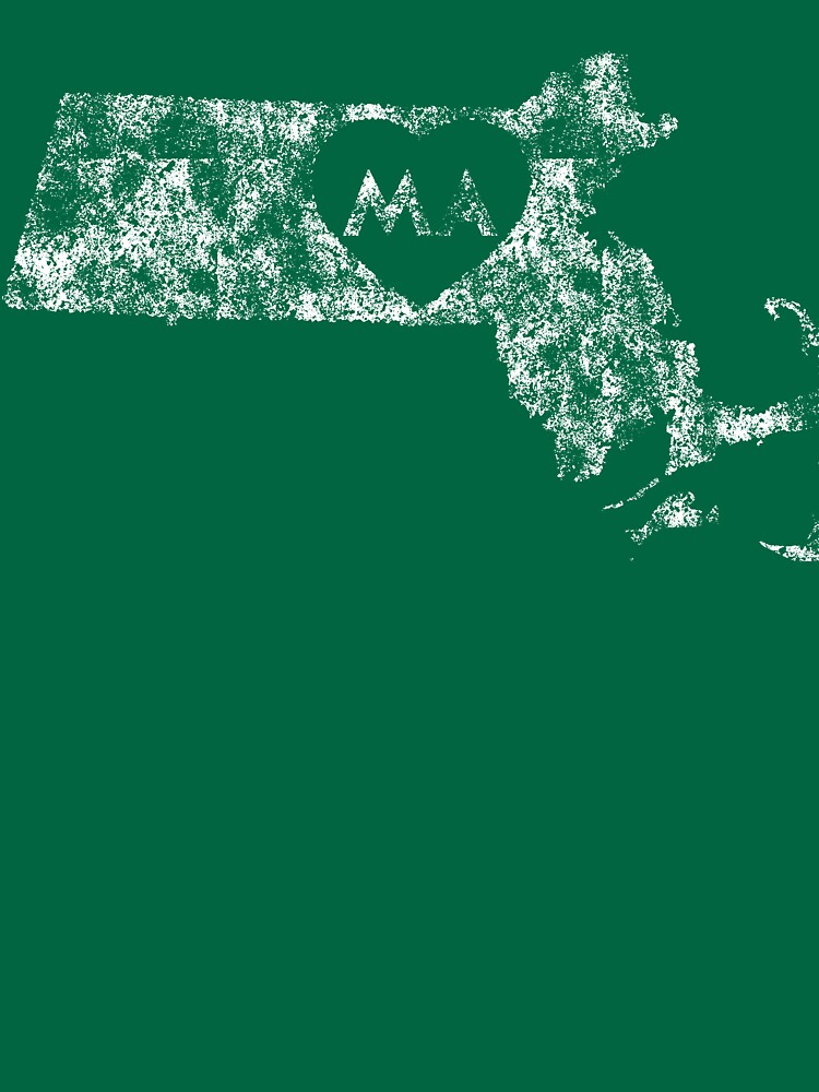 Used I Love Massachusetts State by Chocodole