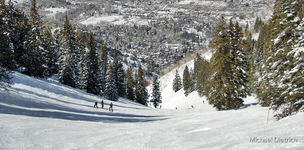 Aspen Highlands Skiing by Michael Dietrich