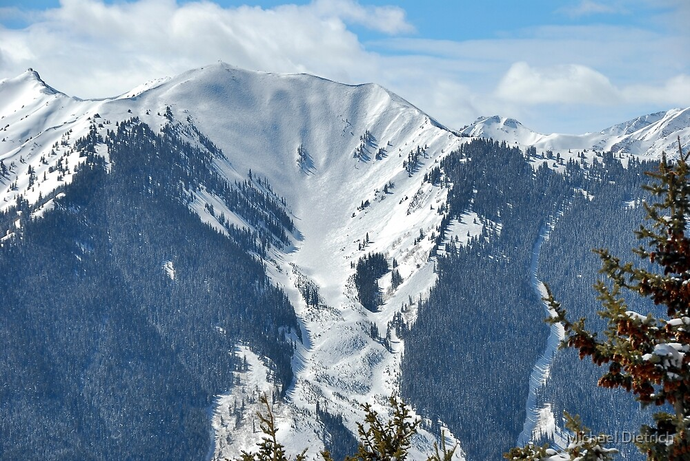 Aspen Bowl Skiing by Michael Dietrich