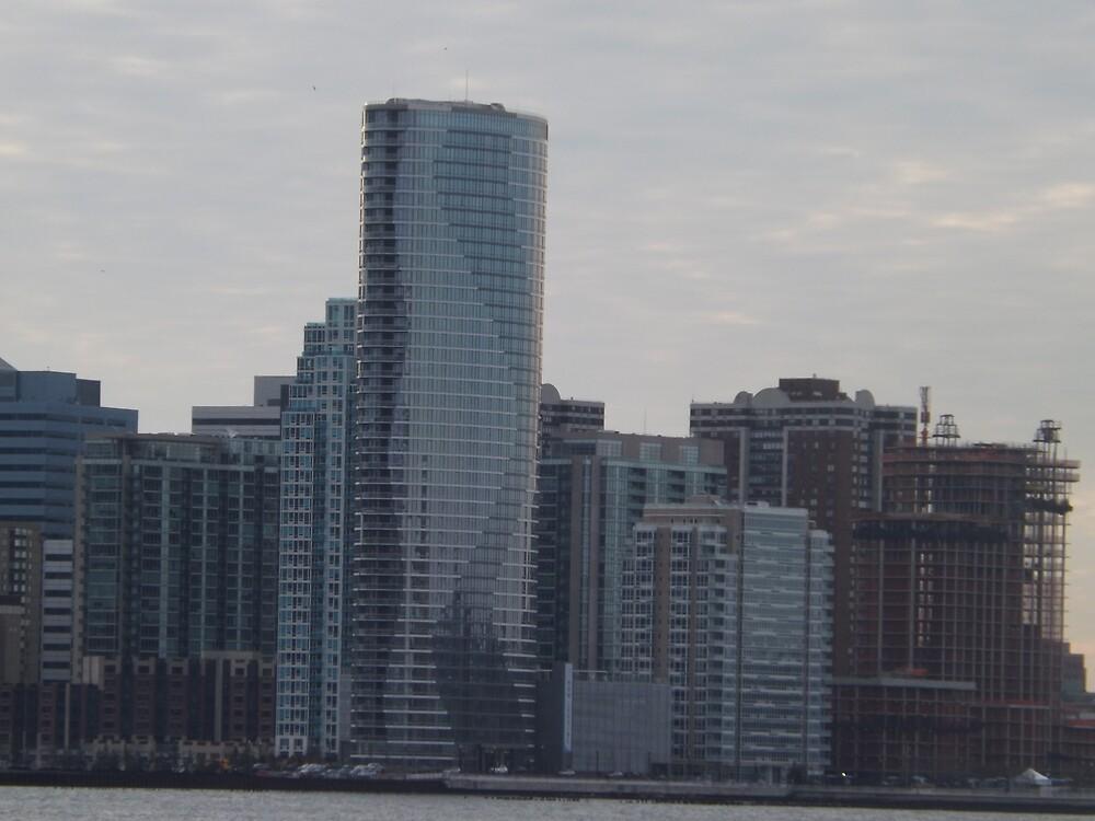 Jersey City Skyline, New Jersey by lenspiro