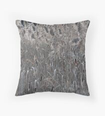 Sunlit marsh reeds and cattails Throw Pillow