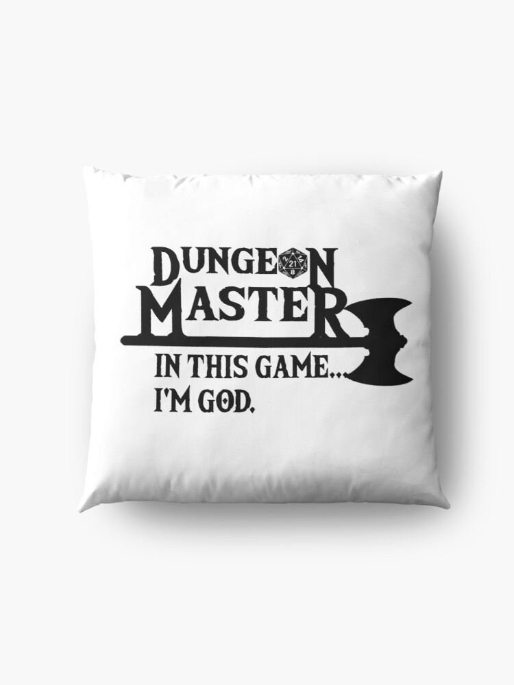 Alternate view of Master of Dungeons Floor Pillow