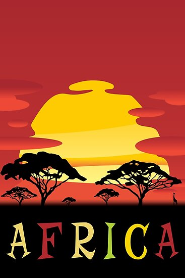 Africa, Travel Poster by BokeeLee