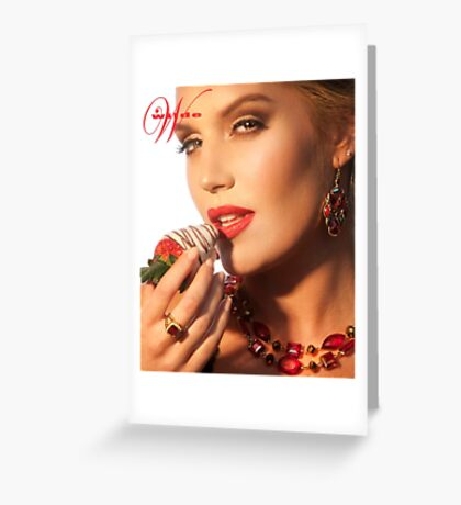 Carly w Strawberry VAL Greeting Card
