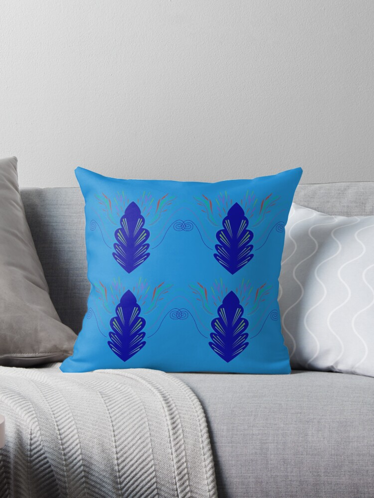 Blue ethno mandalas by Bee and Glow Illustrations Shop