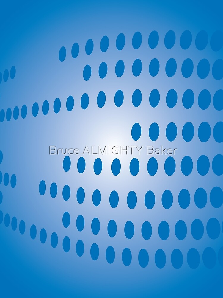 Blue Dots Abstract Art by BruceALMIGHTY