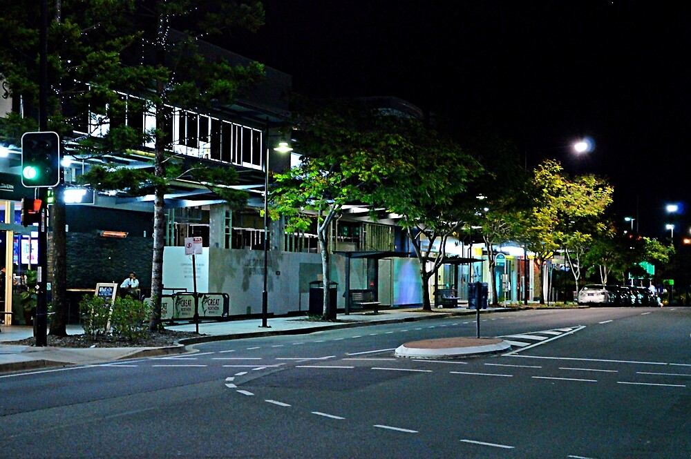Night scene - modern suburbia by Kerry LeBoutillier