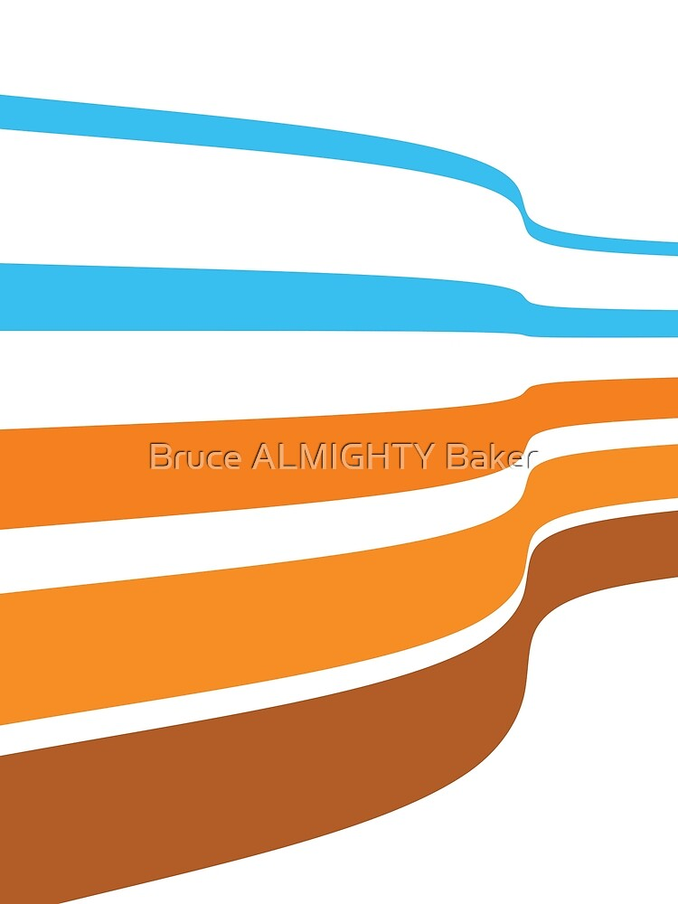 Blue Brown Lines Abstract Art by BruceALMIGHTY