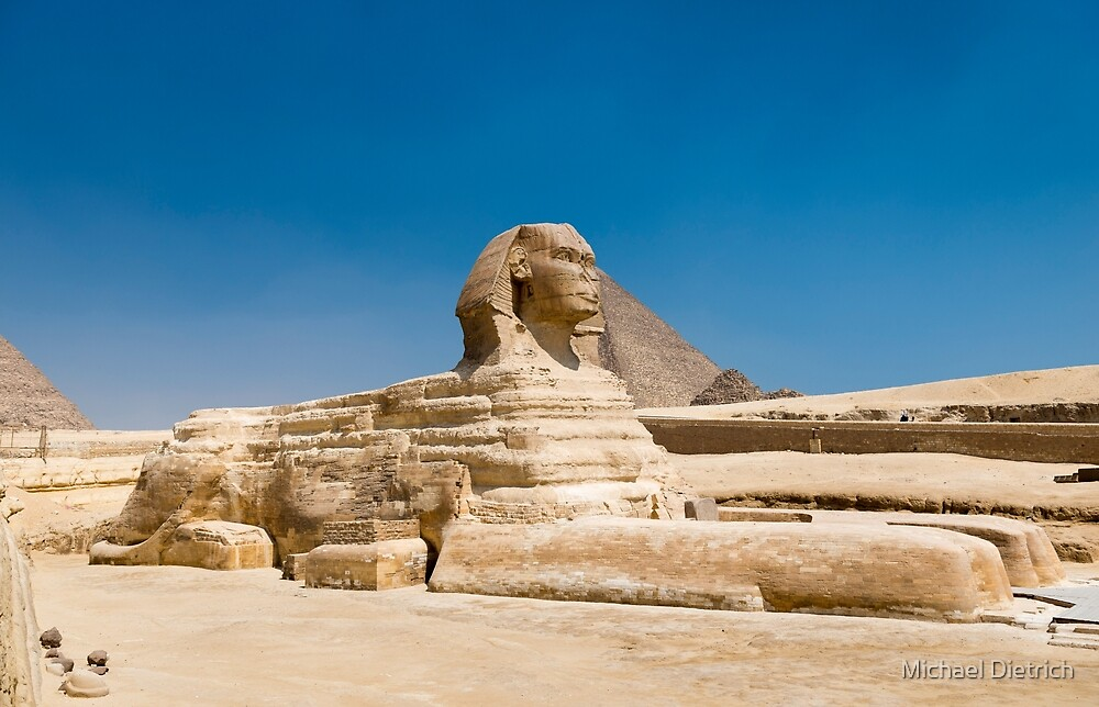 Sphinx and Pyramids by Michael Dietrich