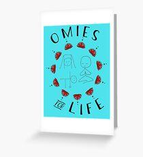 Omies for Life - Yoga Apparel Greeting Card