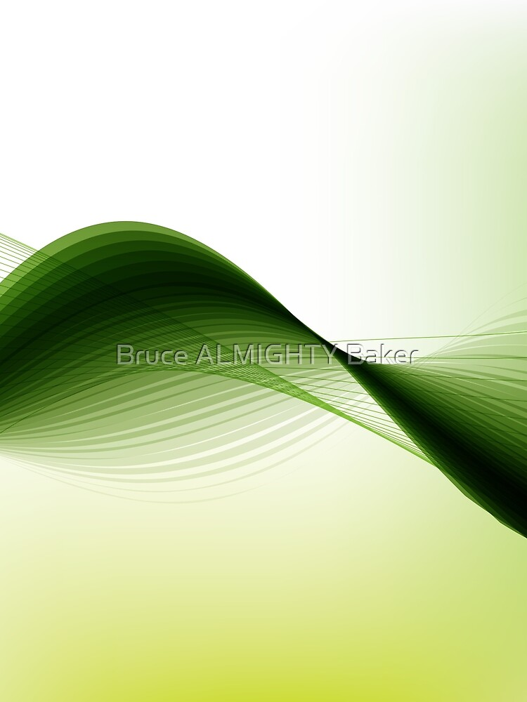Green Lines Abstract Art by BruceALMIGHTY
