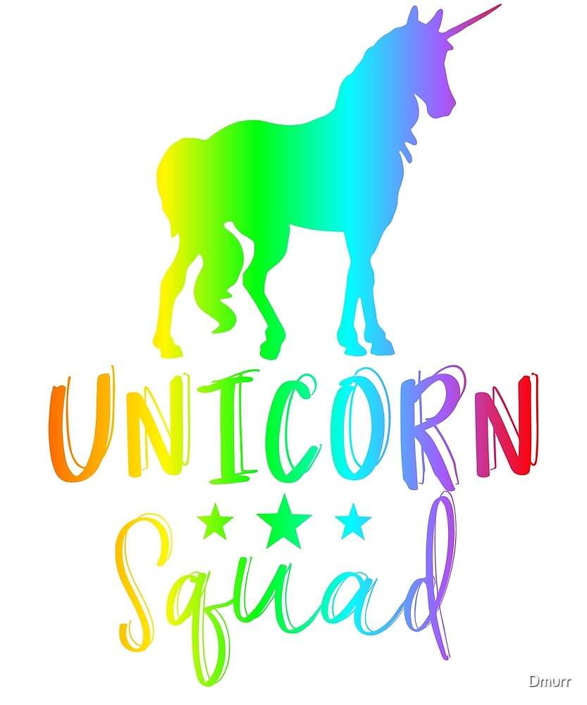 Unicorn Squad EDM Rave, Funny Mythical Creature Merch by Dmurr