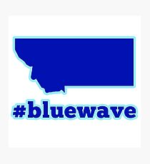 Blue Wave (Montana) Photographic Print