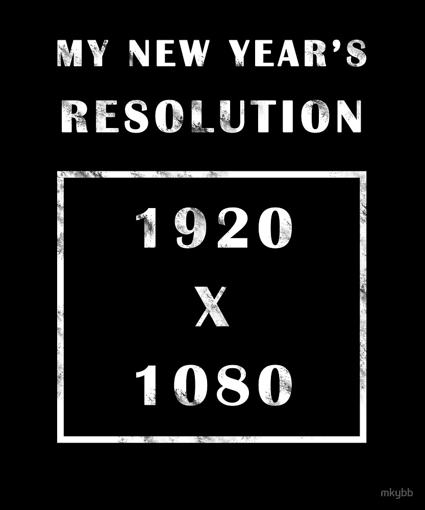 Funny New Year's Resolution T Shirt Distressed Design by mkybb