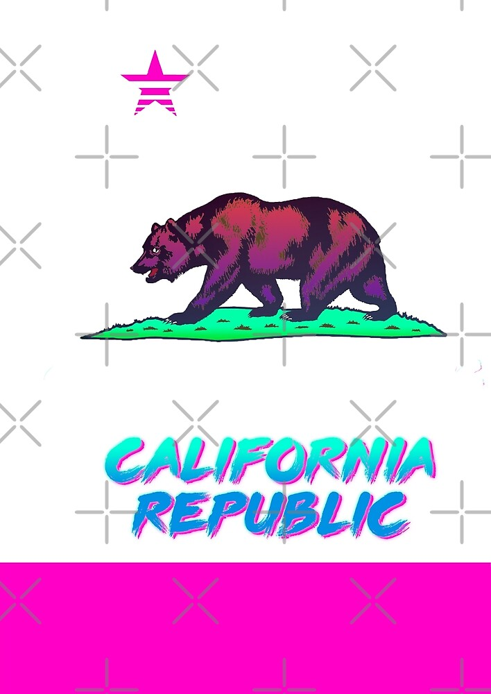 80s California Flag by Acka01