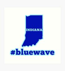 Blue Wave (Indiana) Art Print