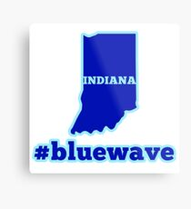 Blue Wave (Indiana) Metal Print