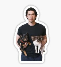 adam driver with dogs Sticker