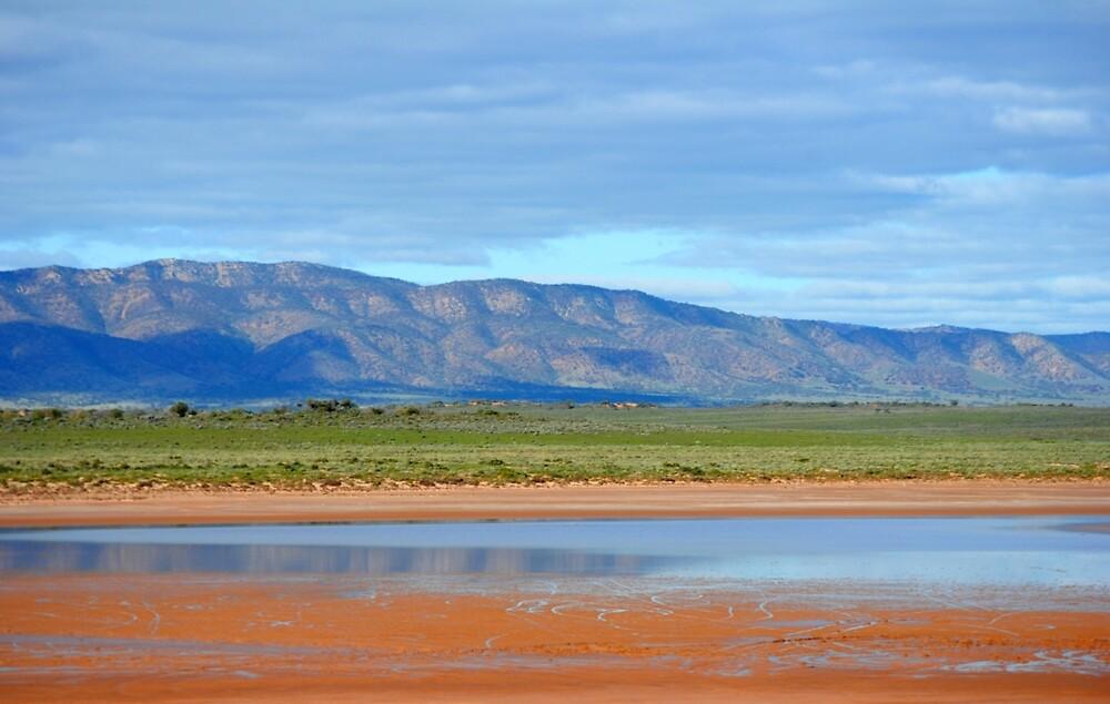 Flinders Ranges from Mystery Island by crazychickmia