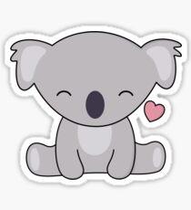 Kawaii Cute Koala Loves Hearts Sticker