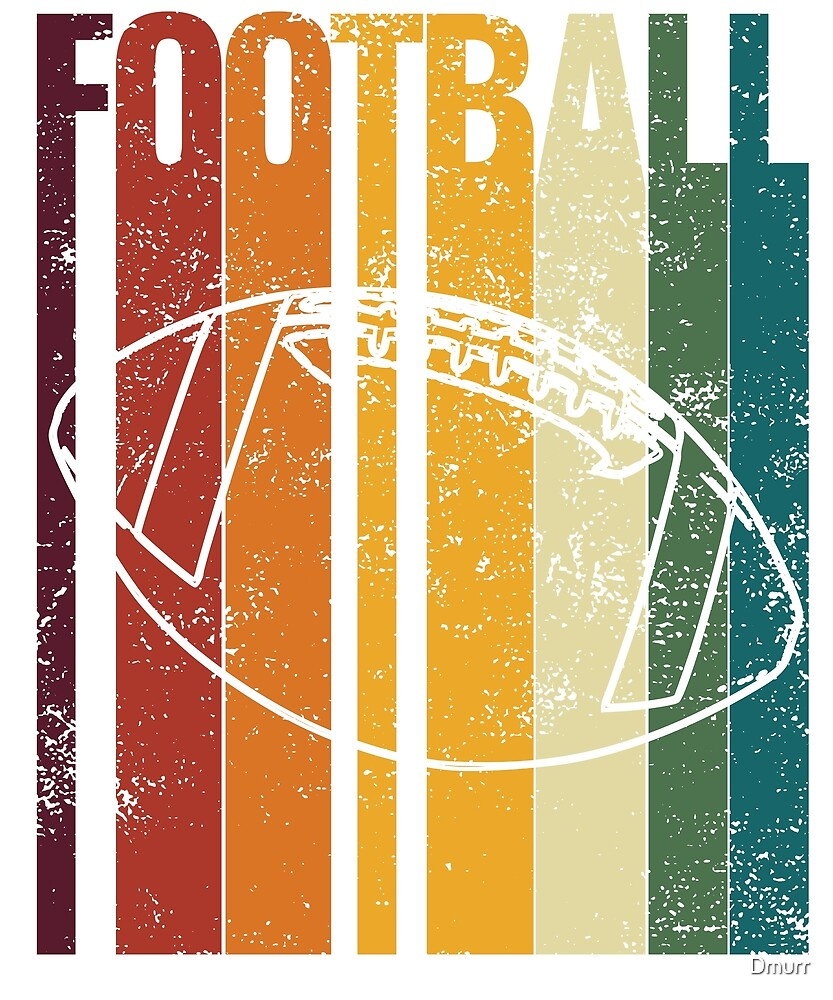 Vintage Football Retro, Novelty Merch by Dmurr