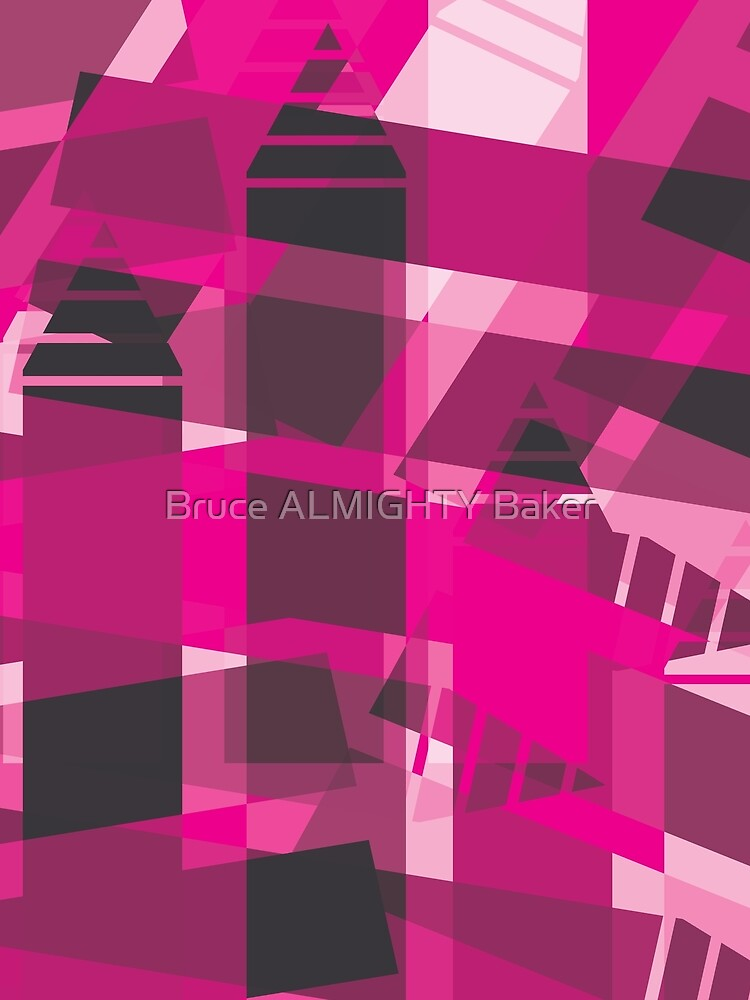 Purple Black Abstract Art by BruceALMIGHTY