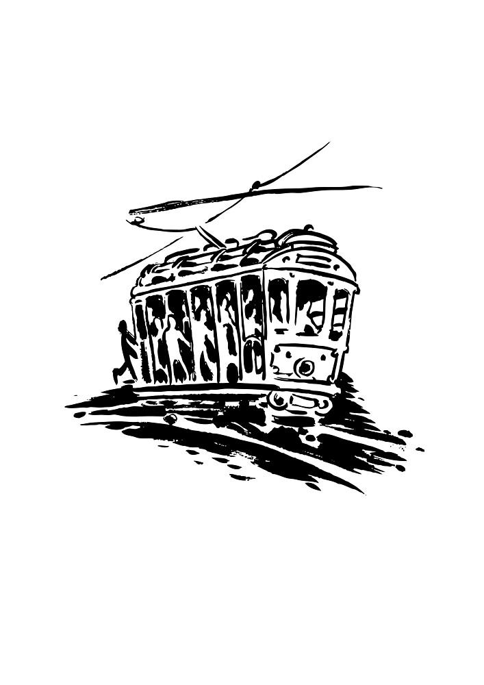 Tram - Train in Rio de Janeiro by dpachers