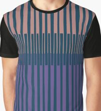 OVERLAPPED, blues, purples Graphic T-Shirt
