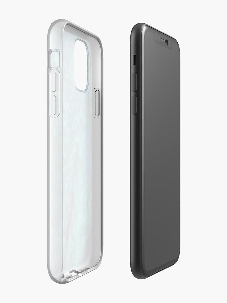 Coque iPhone «Art esthétique bleu vert corail», par warddt