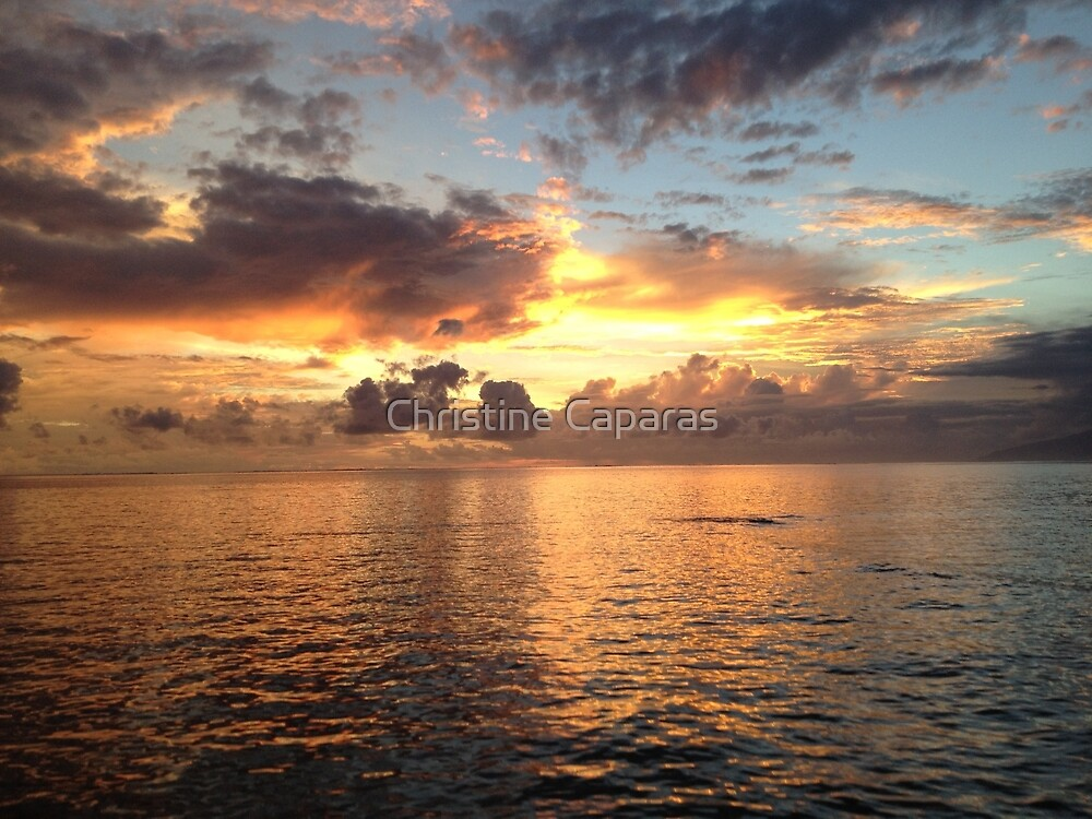 Cloudy Sunset  by Christine Caparas