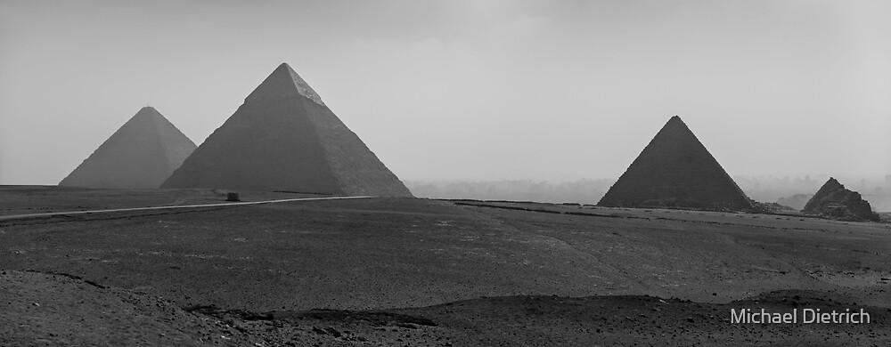 Giza Pyramids, Egypt by Michael Dietrich