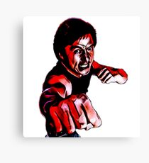Jackie Chan kung fu martial arts karate painting Canvas Print