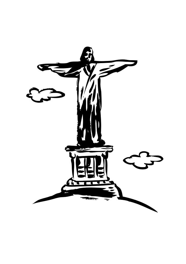 Jesus Christ Monument in Rio de Janeiro by dpachers