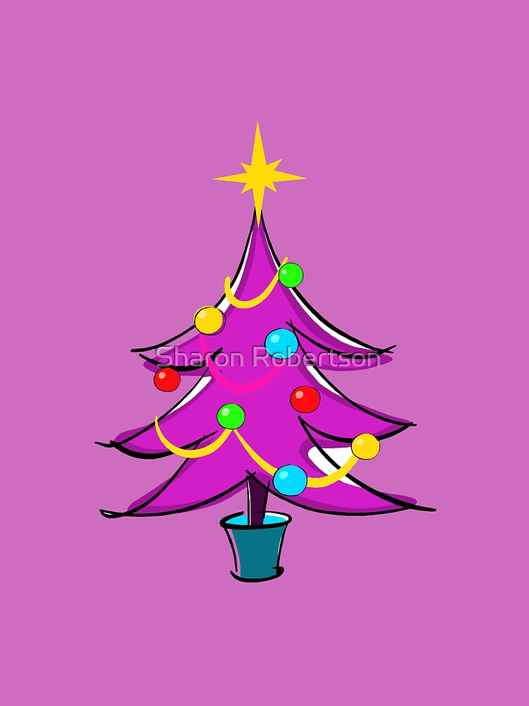 Purple Christmas Tree by Sharon Robertson