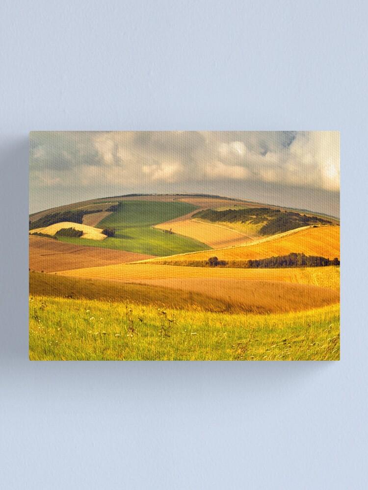 Alternate view of round landscape Canvas Print