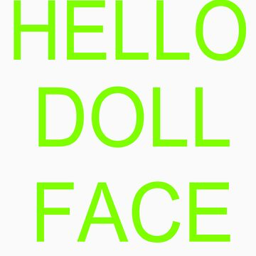 hello doll face by adalae