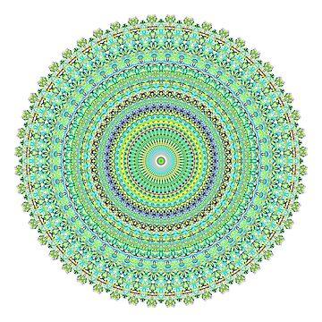 Pastel Green Doily Spiral Art Design by Artbytinavaughn