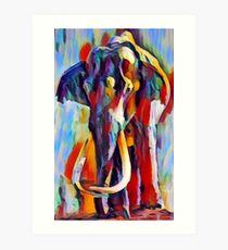 Elefant Kunstdruck