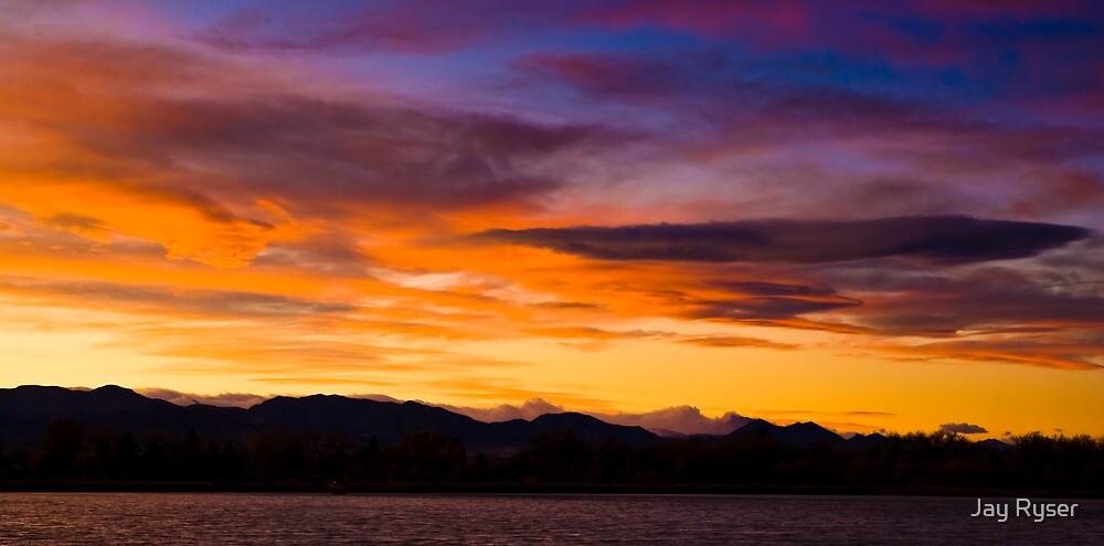 Sunset Pano II by Jay Ryser