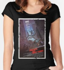 Escape from New York poster Women's Fitted Scoop T-Shirt