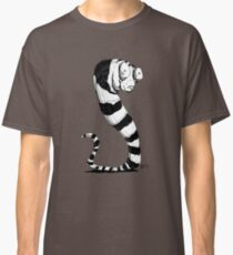 Bug Eyed Black and White Striped Snake...Thing? Classic T-Shirt