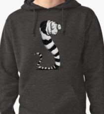 Bug Eyed Black and White Striped Snake...Thing? Pullover Hoodie