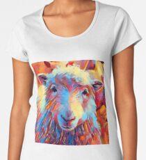 Sheep Watercolor Women's Premium T-Shirt